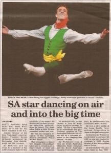 SA star dancing on air and into the big time